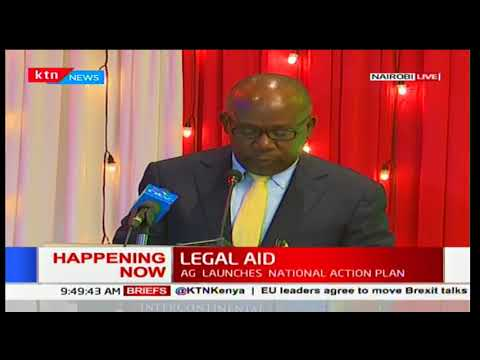 AG Githu Muigai launches the legal aid national action plan