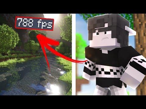 JOGANDO COM SHADERS LEVE E BONITA PARA PC RUIM +750 FPS - (Minecraft)