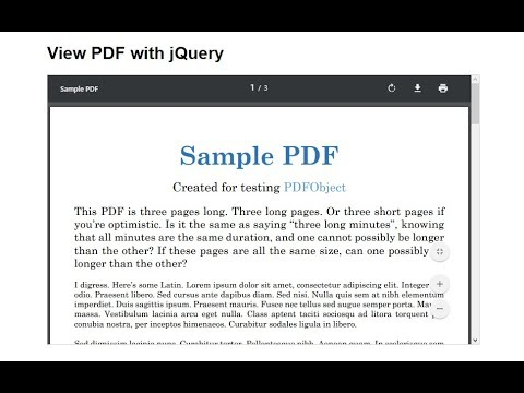 View PDF with jQuery