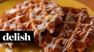 Cinnamon Roll Waffles   Delish + Krups