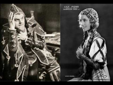 Rigoletto Live 1935 Metropolitan (Tibbett, Pons, Jagel, Olheim, Lazzari - Panizza)