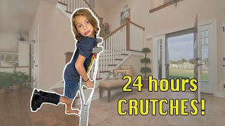 24 hrs on CRUTCHES! Last to drop the CRUTCHES pt.2