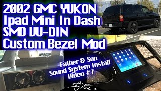 Ipad Mini Smd Vu-din Custom In Dash Bezel Mod - Father & Son Car Audio Install - Gmc Yukon Video #7