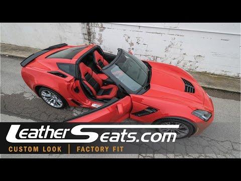Chevrolet C7 Z06 Corvette Torch Red Custom Interior - LeatherSeats.com