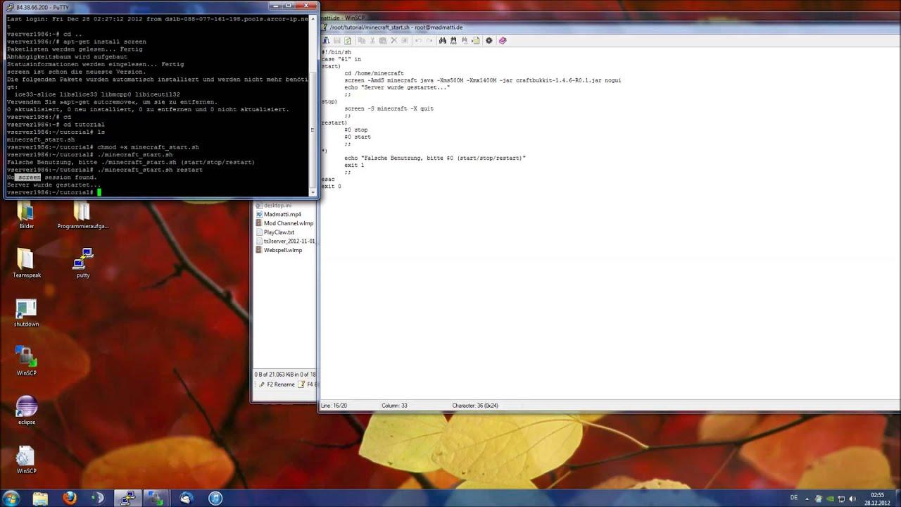 Linux Tutorial: Start/Stop Skript schreiben (Shell) - YouTube