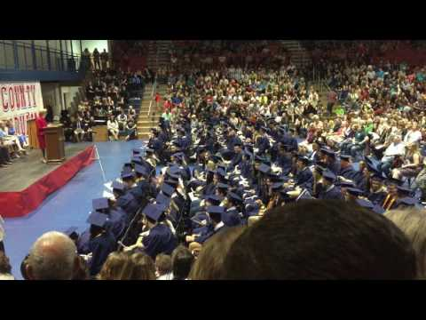 Rockcastle County High School class of 2017 changing of the tassels