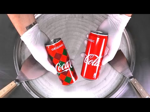 Coca-Cola Ice Cream Rolls | most oddly satisfying Coca Cola Coke Food ASMR Video rolled Ice Cream