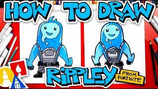 How To Draw Rippley From Fortnite