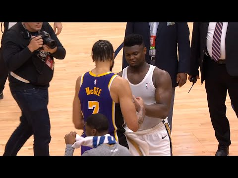 JaVale McGee asking for Zion's jersey, and Zion not asking for JaVale's jersey back