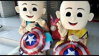 Unboxing Costume Badut Upin & Ipin - Meniup Balon Karakter Cap…