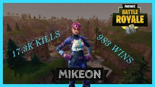 FORTNITE LIVE BATTLE ROYALE 983 WINS 17K KILLS SEASON 3 HYPE NEW ITEMS,SKINS,BACKBLIING AND MORE pt4