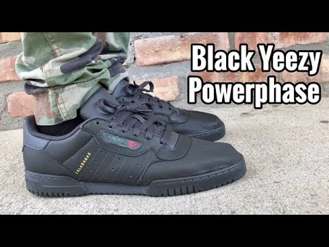 "ede84e7df3609 adidas Yeezy Powerphase ""Black"" on feet - YouTube"