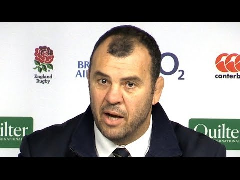 England v Australia - Michael Cheika & Michael Hooper Post Match Press Conference