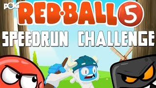 Speedrun Challenge! Red Ball 5, levels 1 through 15
