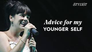 lily allen advice for my younger self