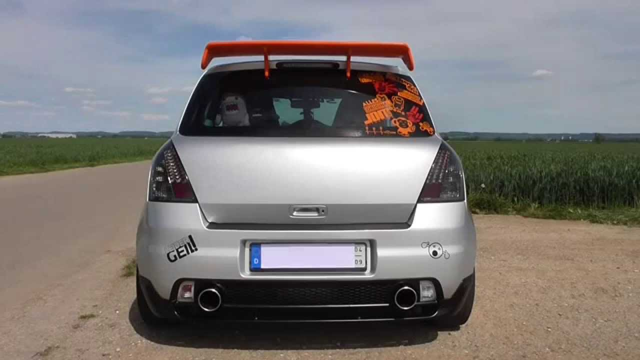 suzuki swift sport mz 2007 mit fox esd msd exhaust. Black Bedroom Furniture Sets. Home Design Ideas