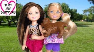 Мультик Барби Челси приютила писающую собаку Видео с куклами Barbie для девочек