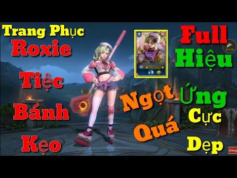 Trang Bị Roxie Mùa 13   Trang Phục Mới Roxie Tiệc Bánh Kẹo Ra Mắt Sổ Sứ Mệnh Mùa 15   AoV   RoV