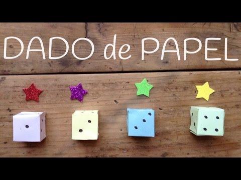 Dado de papel paso a paso, aprende manualidades de papel