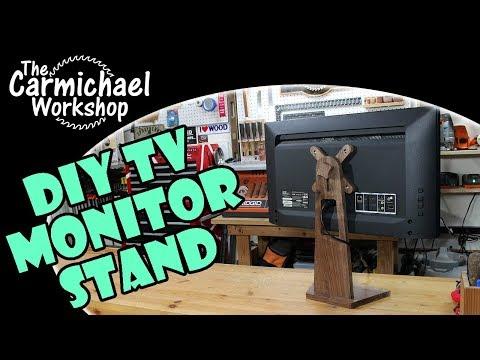Make a DIY Monitor Stand for a Vizio D24F Smart TV