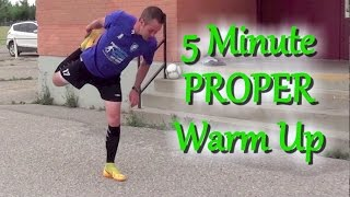 How To Warm Up Before A Soccer  Football Game