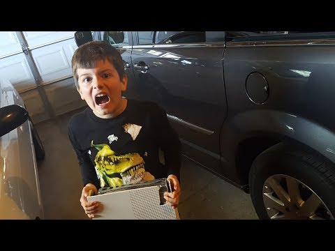Kid Temper Tantrum Gets Xbox Ran Over And Destroyed By Mistake [ Original ]