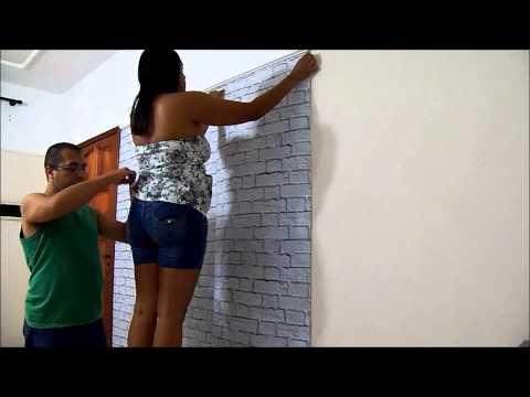 Como aplicar papel de parede adesivo   Projeto de decoração Um lar para Amar