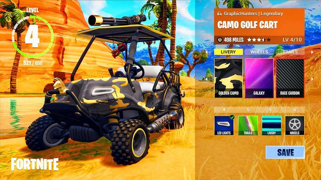 NEW Fortnite Golf Cart CUSTOMIZATION! Vehicle Decorations In ... on custom concepts carts, mardi gras shopping carts, decorated doors, decorated shopping carts, old people extreme carts,
