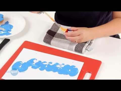 How To Make An Apple Print Caterpillar | Kids Craft Activities