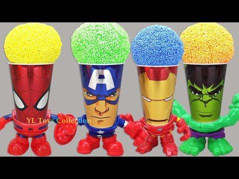 Marvel Avengers Wrong Heads Foam Surprise Cups Spiderman Captain America Iron Man Hulk