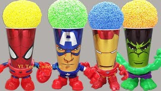 Marvel Avengers Wrong Heads Foam Surprise Cups Spiderman Captain America Iron Man Hulk