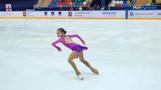 Sofia VAZHNOVA Ladies Short Program 10 Moscow Junior Championships 2020 9 4