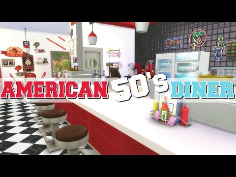 The Sims 4: Speed Build - American 1950s Diner