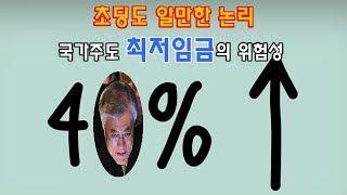 [大재앙의 문] 최저임금 大재앙의 이유 짤막정리 / 초…