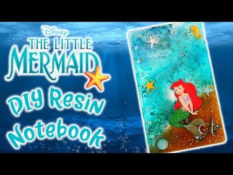 Disney Little Mermaid Ariel Inspired Resin Notebook DIY Craft