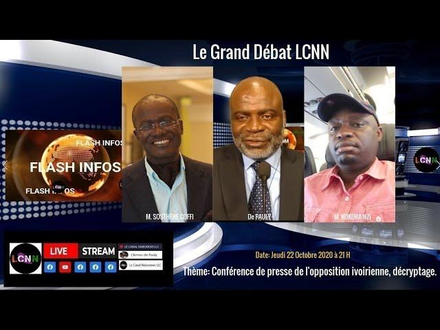 Le Grand debat de LCNN avec M. Sosthene Coffi et M. Kokora N'zi