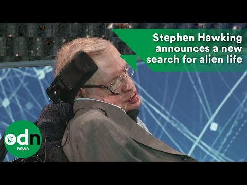 Stephen Hawking announces a new search for alien life