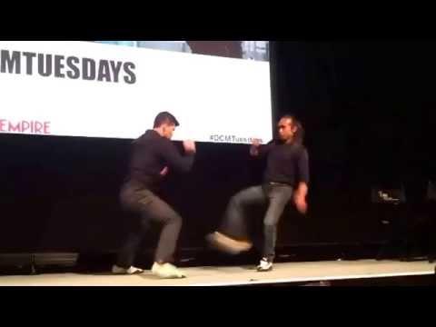 The Raid 2 (Berandal) - Iko Uwais and Yayan Ruhian onstage demo