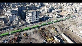 أخبار عربية | إجلاء الدفعة التاسعة من المهجرين قسراً من حي الوعر المحاصر في مدينة #حمص