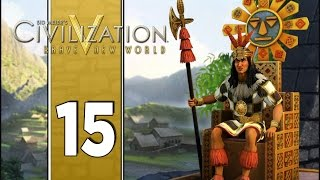 The Space Race - Let's Play Civilization V Gameplay (Deity Gameplay) - Incas - Part 15