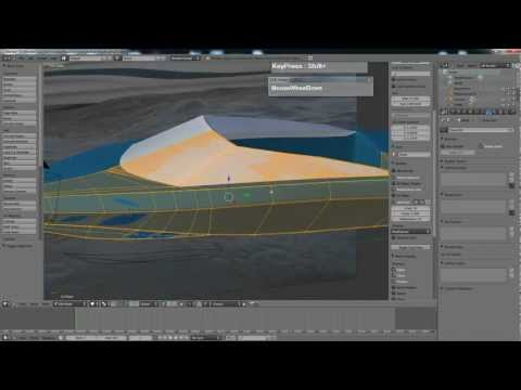 Blender 2.59 Boat Hull Modeling Tutorial with converted B-Spline Guides