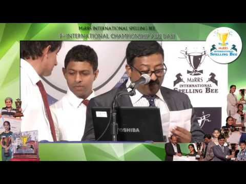 MaRRS INTERNATIONAL SPELLING BEE 7th INTERNATIONAL CHAMPIONSHIP ABU DHABI