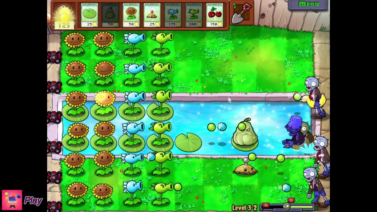 Plants vs. Zombies | Level 3-2 | Squash | Walkthrough