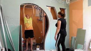 Как сделать красивую перегородку с аркой