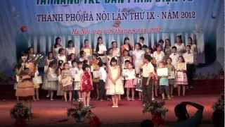 Trao giai nhat tai nang tre dan phim dien tu TP.Ha Noi 2012