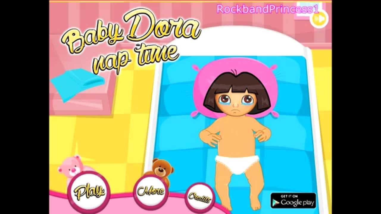 Dora The Explorer Online Games Dora Baby Nap Time Game