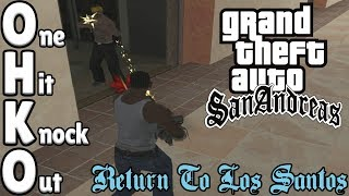 GTA San Andreas - ONE HP SPEEDRUN - Return To Los Santos