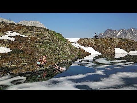 GLACIER SWIM IN THE CANADIAN ROCKIES