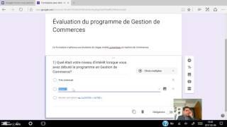 Création de formulaire avec Google form (tutoriel)