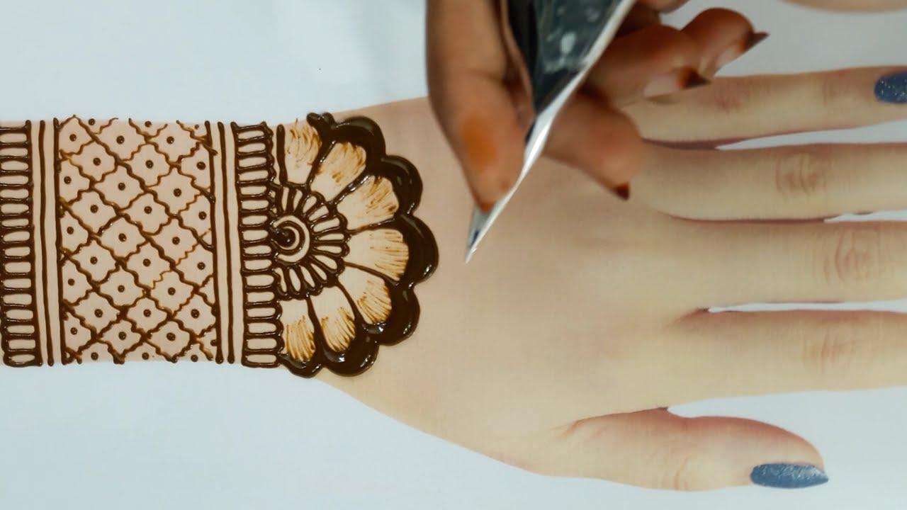 back hand mehandi designs easy